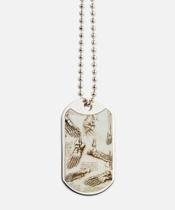Foot anatomy by Leonardo da Vinci Dog Tags