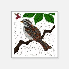 """Grasp The Sparrows Tail Square Sticker 3"""" x 3"""""""