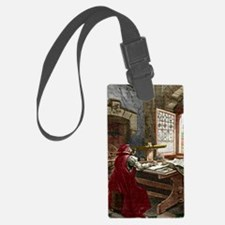 Galileo using a telescope Luggage Tag