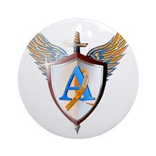 Ashers coat of arms Round Ornament