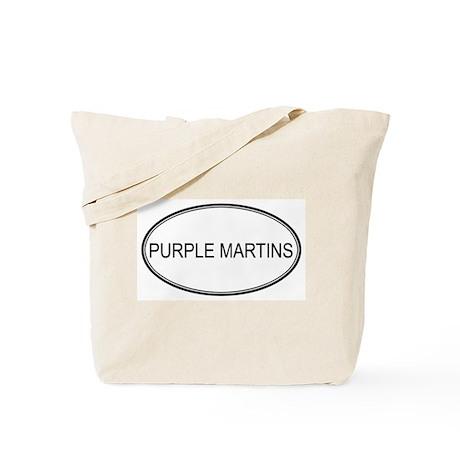 Oval Design: PURPLE MARTINS Tote Bag