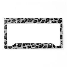 Snow Leopard License Plate Holder