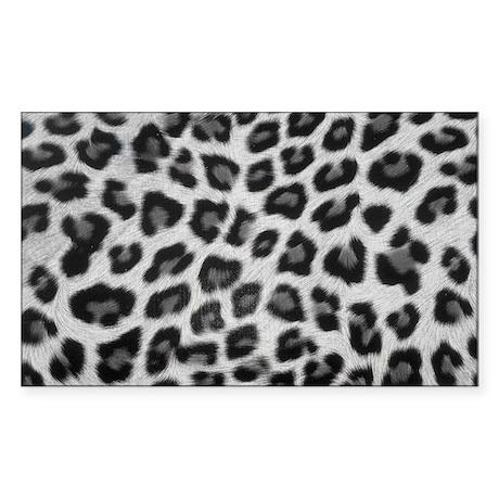 Snow Leopard Sticker (Rectangle)
