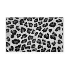 Snow Leopard Rectangle Car Magnet