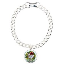 Merry Christmas Schnoodl Charm Bracelet, One Charm