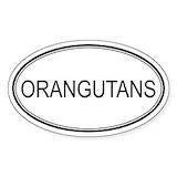 Orangutan stickers Single