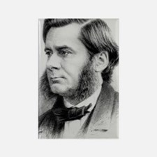 Engraving of biologist Thomas Hux Rectangle Magnet