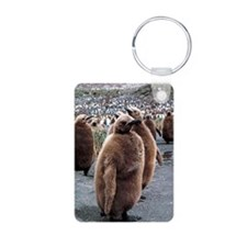 King penguin chicks Keychains