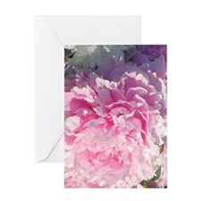 peony blossoms Greeting Card