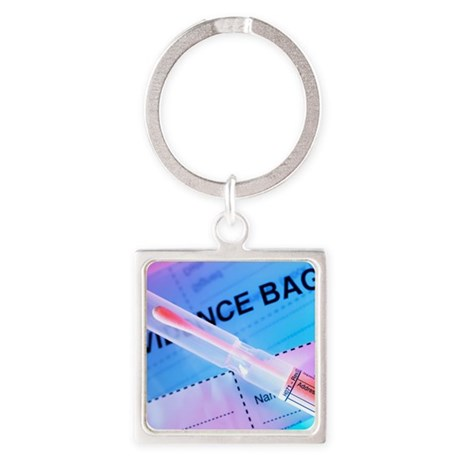 Forensic evidence Square Keychain