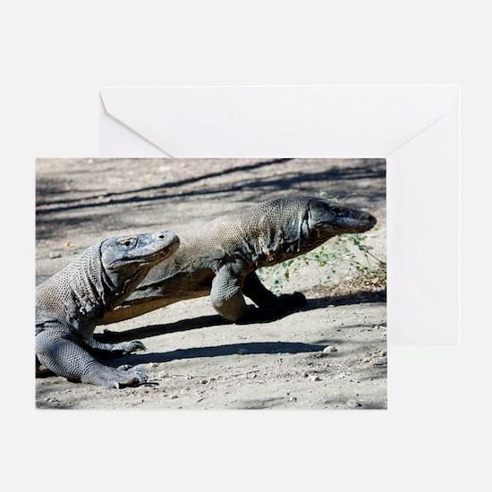 Komodo dragons Greeting Card