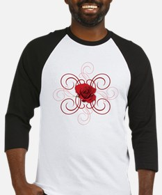 engaged7 redrose Baseball Jersey