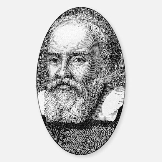 Galileo Galilei, Italian astronomer Sticker (Oval)