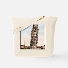 Vintage Leaning Tower Of Pisa Tote Bag