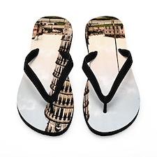 Vintage Leaning Tower Of Pisa Flip Flops