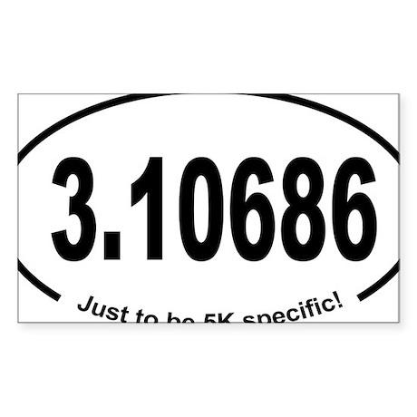 Running 5K Spoof 3.1 Sticker (Rectangle)
