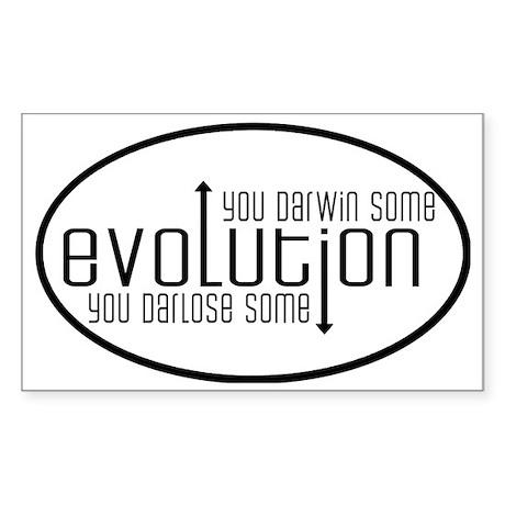 evolution Sticker (Rectangle)
