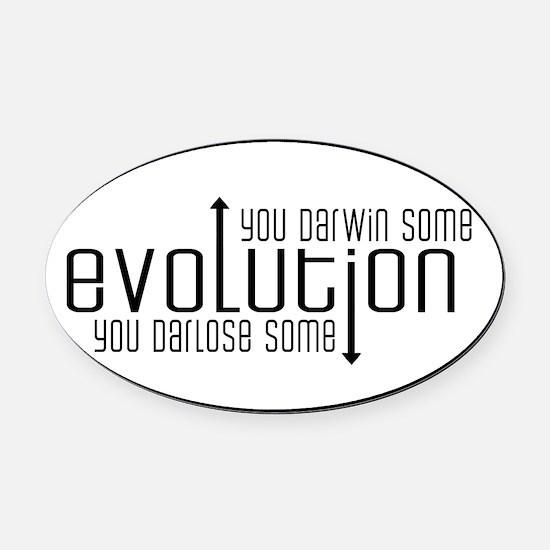 evolution Oval Car Magnet