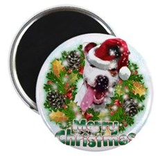 Merry Christmas Pitbull Magnet