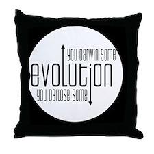 darwinbutton Throw Pillow