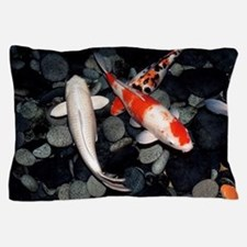 Koi carp in a pond Pillow Case