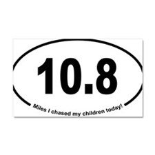 Running 13.1 Spoof Chase Childr Car Magnet 20 x 12