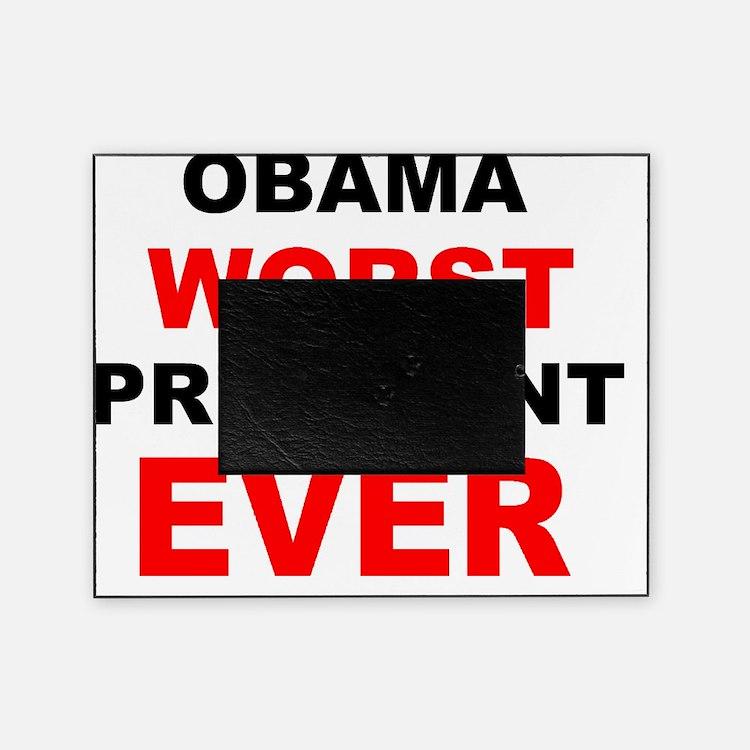 anti obama worst presdarkbumplL Picture Frame
