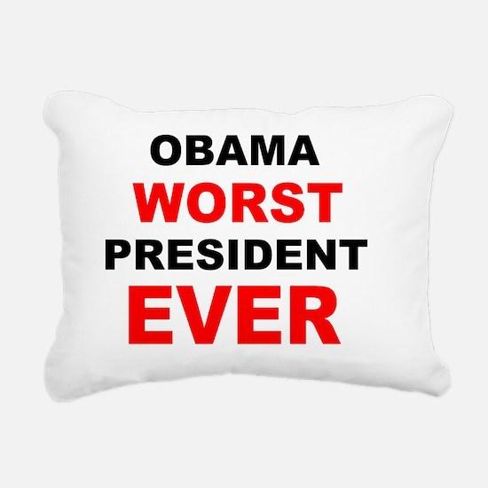 anti obama worst presdar Rectangular Canvas Pillow