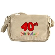 Uncles 40th Birthday Messenger Bag