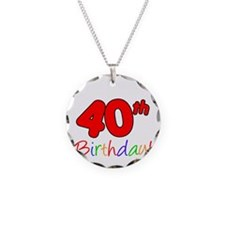 Uncles 40th Birthday Necklace Circle Charm