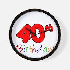 Uncles 40th Birthday Wall Clock