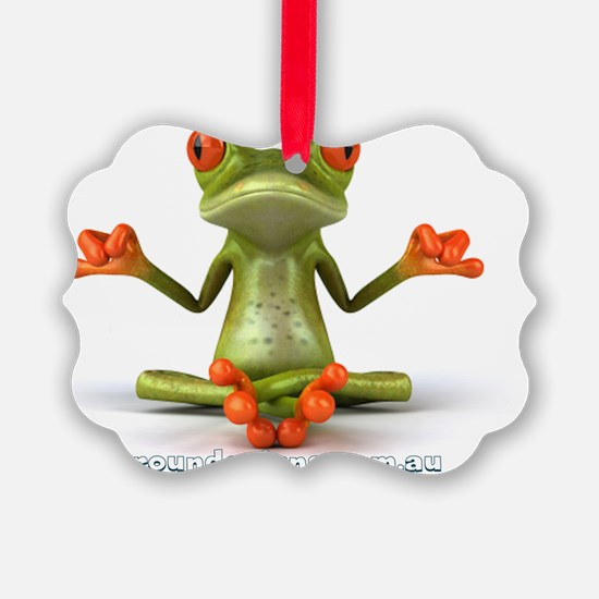 Around Cairns Zen Frog Ornament