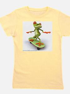 Around Cairns Skater frog Girl's Tee