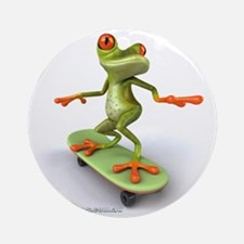 Around Cairns Skater frog Round Ornament