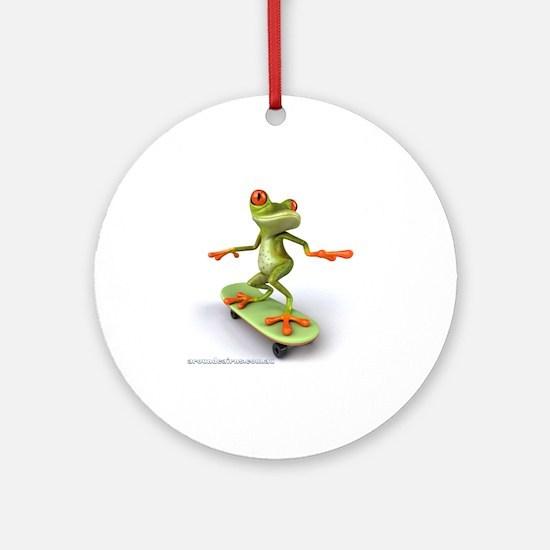 Around Cairns Skater frog Round Ornament