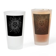 Flowery Pentacle Drinking Glass