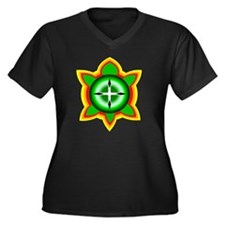 SOUTHEASTERN Women's Plus Size Dark V-Neck T-Shirt