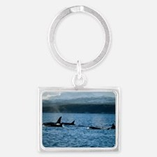 Killer whales Landscape Keychain