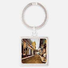 Calle de Habana Square Keychain
