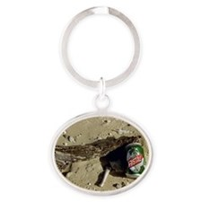 Cristal Beer Oval Keychain