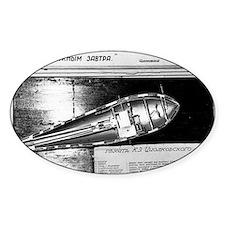 Konstantin Tsiolkovsky's rocket pla Decal