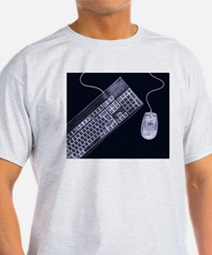 Keyboard and mouse, simulated X-ray T-Shirt