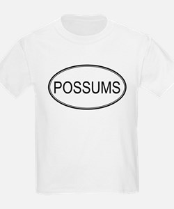 Oval Design: POSSUMS Kids T-Shirt