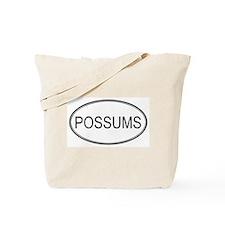Oval Design: POSSUMS Tote Bag