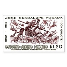 1963 Mexico Don Quijote Skelet Decal