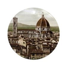 Vintage Florence Cathedral Round Ornament