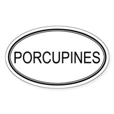 Oval Design: PORCUPINES Oval Decal