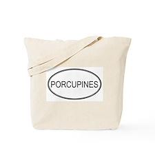 Oval Design: PORCUPINES Tote Bag