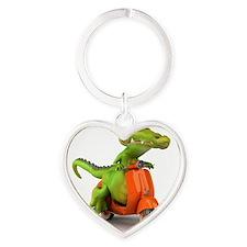 Around Cairns Croc on a Vespa Heart Keychain
