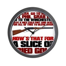 Winchester Shaun of the Dead Wall Clock
